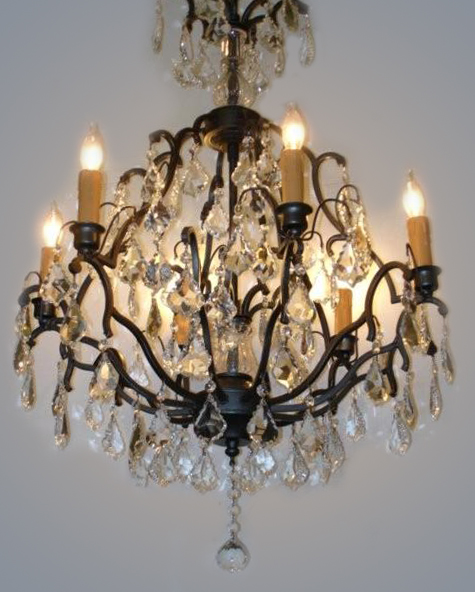 Crystal & Bronze Chandelier Restoration